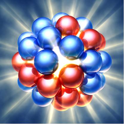 Quando o núcleo de um átomo é instável, ele sofre decaimento radioativo natural