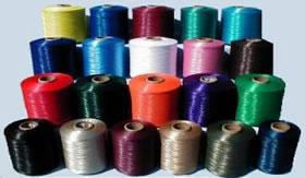 Fios têxteis fabricados a partir de alcinos.