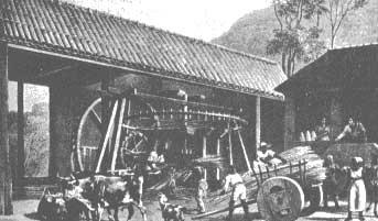 Engenhos de açúcar primeira etapa da  indústria no país.