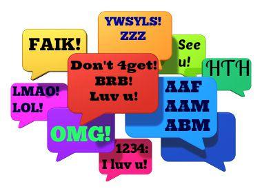 Existem muitas abreviações e siglas em inglês para conversar on-line