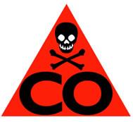 Monóxido de carbono: gás tóxico.