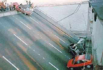 Dano provocado por terremoto em São Francisco, Estados Unidos.