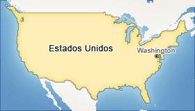O mapa da principal nação do mundo