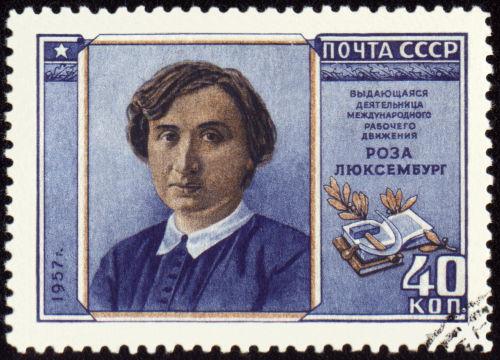 Rosa Luxemburgo foi uma das fundadoras da Liga Espartaquista *
