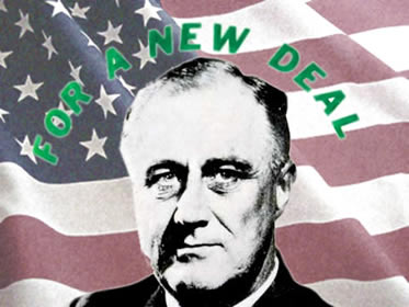 Franklin D. Roosevelt: o presidente responsável por empreender as medidas do New Deal.
