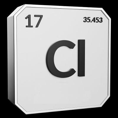 Símbolo utilizado para representar o elemento cloro