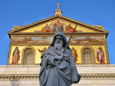 O apóstolo São Paulo foi responsável pela criação de uma ampla aceitação da fé cristã em ambiente clássico (grego e romano)