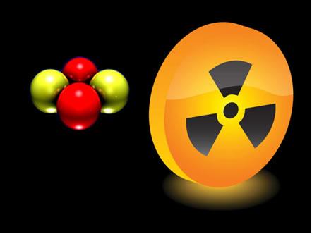 A radiação alfa é composta por 2 prótons e 2 nêutrons