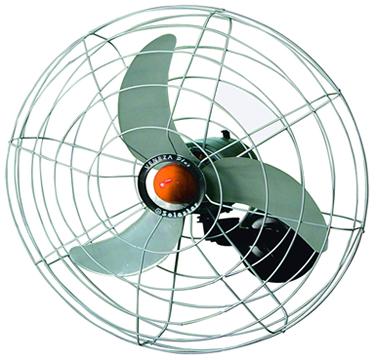 As pás de um ventilador fazem um movimento de rotação