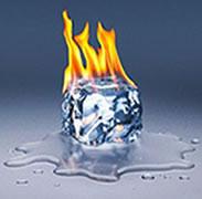A temperatura influi no estado da matéria.