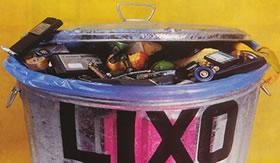 Não jogue pilhas usadas no lixo.