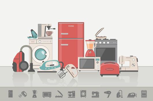 Os eletrodomésticos que temos em casa são exemplos de receptores, pois eles transformam a energia elétrica em diferentes formas de energia.