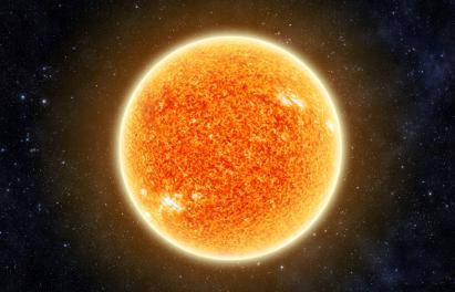 Apesar de ser representado na cor laranja ou em tons avermelhados, o Sol apresenta outra cor originalmente