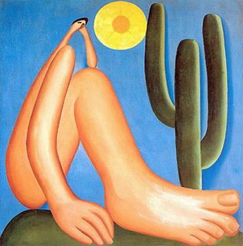 Abaporu, quadro de Tarsila Amaral que representa um marco do movimento antropofágico