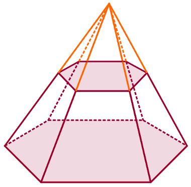 Na parte de baixo, o tronco da pirâmide