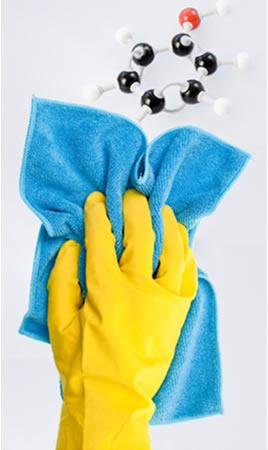 Os derivados do fenol, principalmente os cresóis, são muito usados em desinfetantes e bactericidas