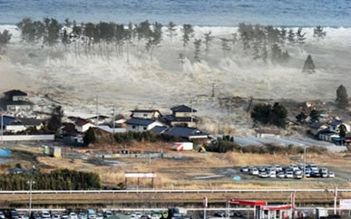 Tsunami provocado pelo terremoto no Japão