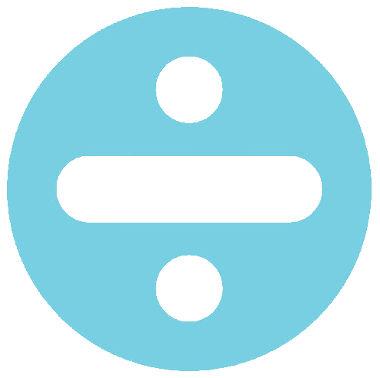 Sinal utilizado para representar divisões