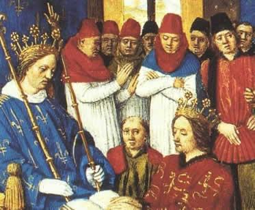 As relações de suserania e vassalagem firmavam um elo de fidelidade entre dois nobres.