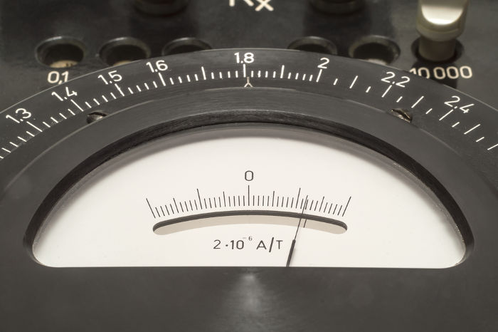 Para funcionar corretamente, o galvanômetro no centro da ponte de Wheatstone deve indicar uma corrente elétrica nula.