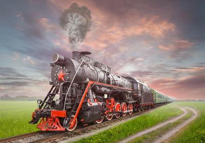 A locomotiva é uma máquina térmica utilizada para o transporte de cargas e pessoas