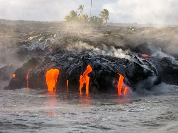 O Kilauea, o vulcão mais ativo do mundo, está localizado no Parque Nacional de Vulcões do Havaí