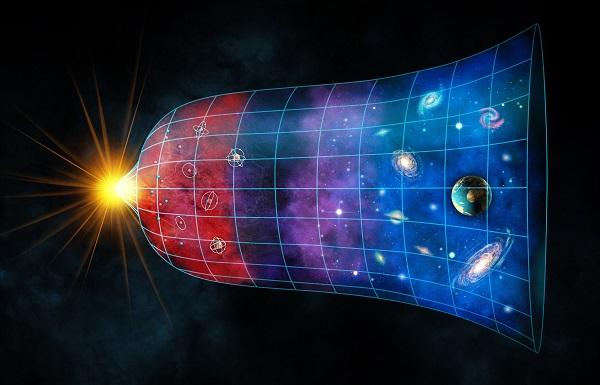 Concepção artística da formação do universo a partir de sua expansão inicial