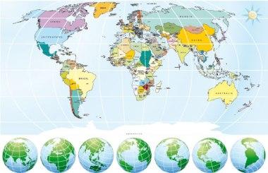 Os mapas podem representar os mais variados temas das mais diversas regiões do mundo