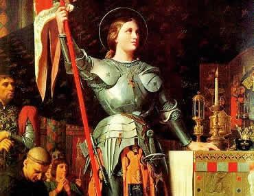 Joana d'Arc: heroína francesa na Guerra dos Cem Anos.