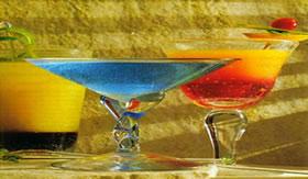 A Vodca é usada no preparo de coquetéis.