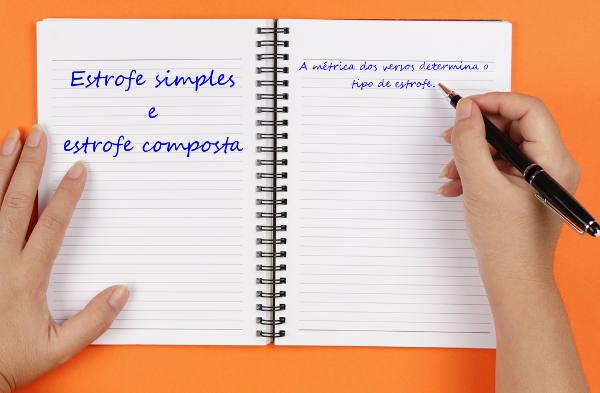 As estrofes podem conter versos com métricas iguais ou não