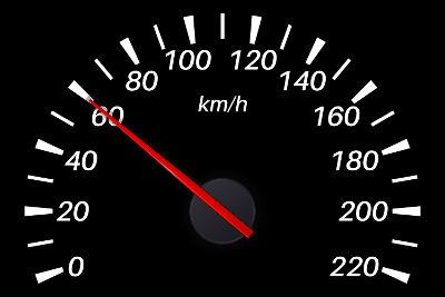 O velocímetro mostrado acima indica que o veículo desloca-se 60 km a cada hora, em relação ao solo