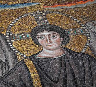 Mosaico bizantino representando Cristo. As diferenças de interpretação religiosa geraram o Cisma do Oriente entre bizantinos e católicos
