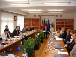 Reunião do Conselho da União Européia.
