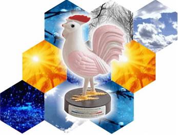 Enfeites populares que mudam de cor usam o princípio do deslocamento do equilíbrio químico para indicar a umidade do ar.