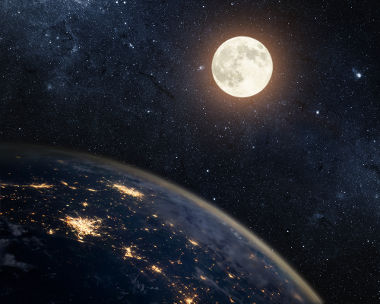 A velocidade de movimento da Lua é capaz de mantê-la em seu movimento ao redor da Terra