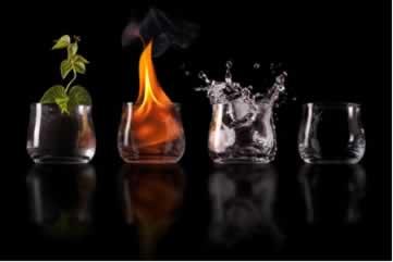 Segundo a Teoria dos Quatro Elementos, tudo seria formado a partir da terra, do fogo, da água ou do ar