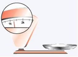 Balança responsável por identificar peso em KG