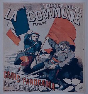 Cartaz comemorativo da Comuna de Paris, ocorrida em 1871