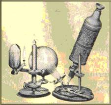 O modelo do primeiro microscópio
