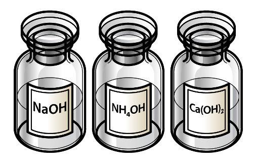 As bases são um exemplo de substâncias formadas na reação com óxidos duplos