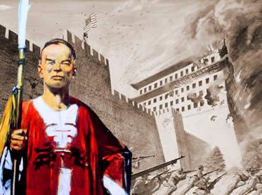 """A ação dos """"boxers"""" chineses foi violentamente reprimida pelas nações imperialistas."""