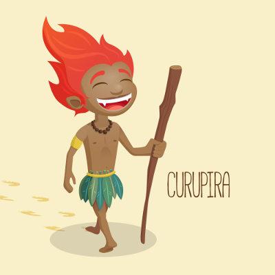 O Curupira é conhecido como protetor da florestas