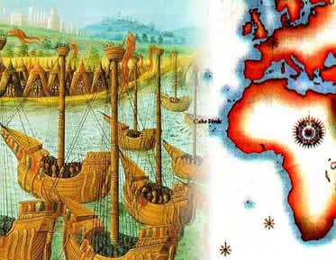 As Grandes Navegações resultam de uma série de interesses que marcaram a Europa.