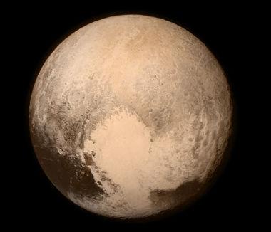 """Imagem de Plutão divulgada pela Nasa e obtida por meio da sonda """"New Horizons"""""""
