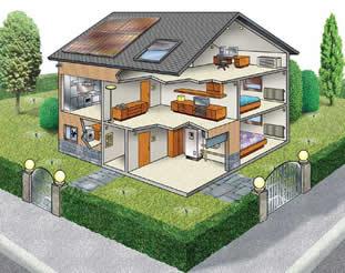 Residência com tecnologias automatizadas