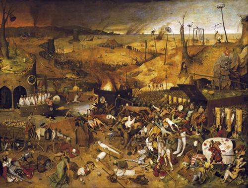 """""""O Triunfo da morte"""", obra de Pieter Bruegel, 1562"""