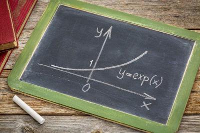 Curva que representa uma função exponencial crescente