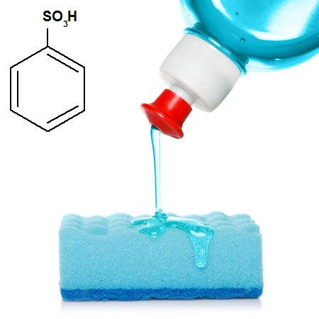 Benzenossulfônico é o nome do ácido sulfônico presente nos detergentes