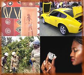 Têxtil, automobilístico, alimentos e minérios são os destaques